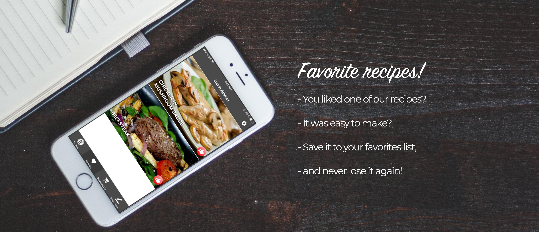 Favorite recipes Lunch Advisor
